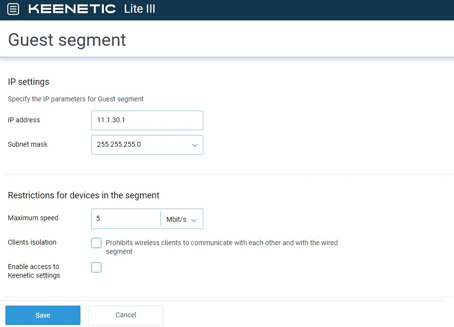 Configuring Zyxel Keenetic — Wi-Fi SYSTEM